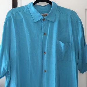 Tommy Bahama 100% silk short sleeve shirt